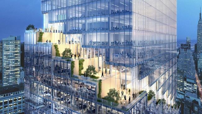Bjarke-Ingels Group's terraced tower project
